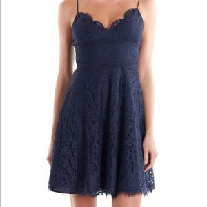 Joie Dark Blue Damasia Lace Dress